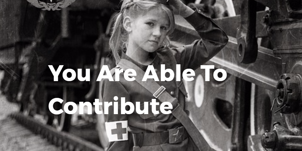 You Are Able To Contribute